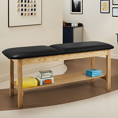 Clinton Industries, Inc. (1020-27-3BK-1NT) Table Exam Natural Oak Black Top - Practice Family Table Exam