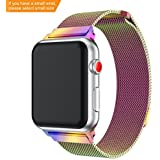 Yayuu Apple Watch Band 38mm 42mm,Fully Magnetic Clasp Mesh Milanese Loop Stainless Steel iWatch Band for Apple Watch Series 3 2 1 Sport and Edition