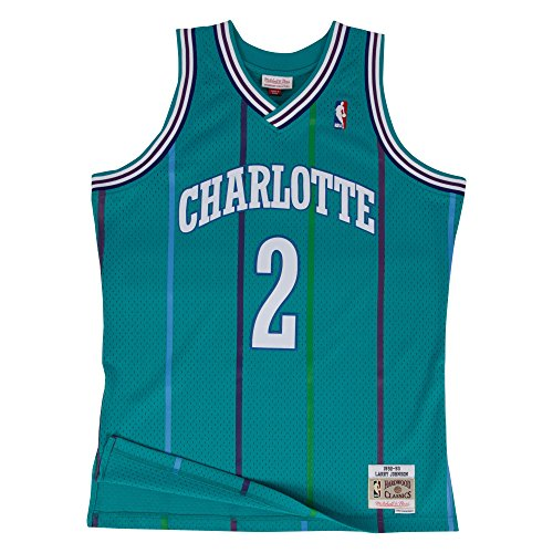 - Larry Johnson Charlotte Hornets Mitchell & Ness NBA Throwback Jersey - Teal