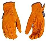 Black & Decker BD530L Premium Grain Cowhide Driver Work Gloves, Large