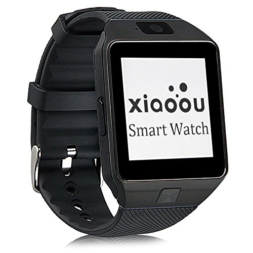 321OU Bluetooth Smart Watch Phone DZ09 with Camera Pedometer Support SIM Card TF Card for iPhone IOS Samsung LG Android Smartphones (Black)
