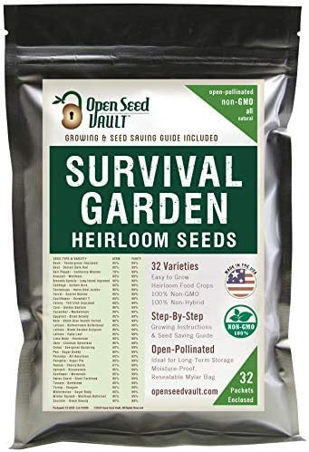 Survival garden heirloom seeds