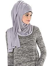 Kashkha Women's Plain Cotton Jersey Lightweight Hijab Scarf