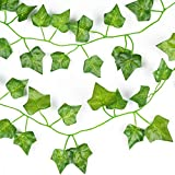 DearHouse 12 Strands Artificial Ivy Leaf Plants