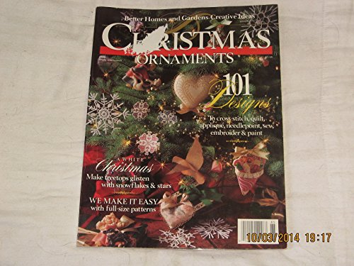 CHRISTMAS ORNAMENTS 101 DESIGNS 1988 BETTER HOMES AND GARDENS CREATIVE IDEAS WITH CHRISTMAS ORNAMENTS ON FRONT COVER.