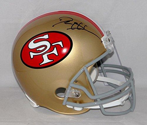 57423ccfd Deion Sanders Autographed Black San Francisco 49ers 64-95 F S Helmet JSA W
