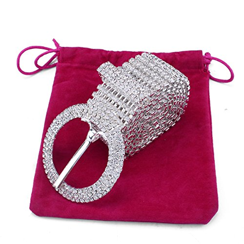Stuff 10 Lines Rhinestone Crystal Chain Waist Buckle Belt Fashion Accessory for Women Wedding Prom Evening Dresses Accessory (4#)