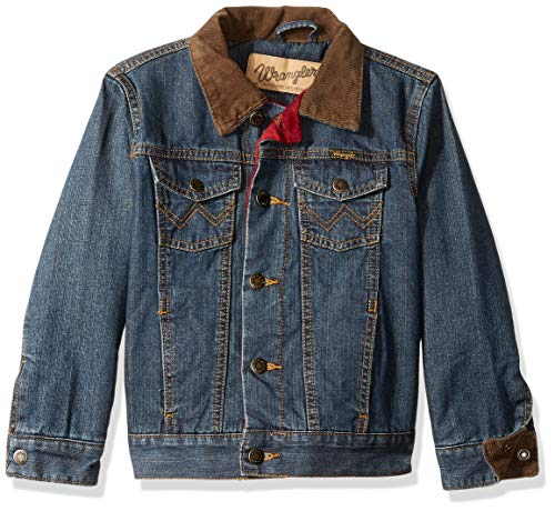 - Wrangler Boys' Lined Denim Jacket, rustic blue XS