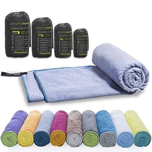 LightDry, microvezel reishanddoek voor sport, wandelen, extra absorberend en antibacterieel