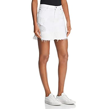 5e4b309488 Amazon.com: 7 For All Mankind Women's Skirt with Frayed Hem: Clothing
