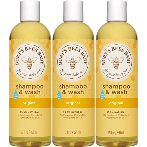 Burt's Bees Baby Shampoo & Wash, Original Tear Free Baby Soap - 12 Ounce Bottle (Pack of 3) by Burt's Bees Baby