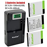 Kastar Galaxy S2 Battery (3-Pack) and intelligent