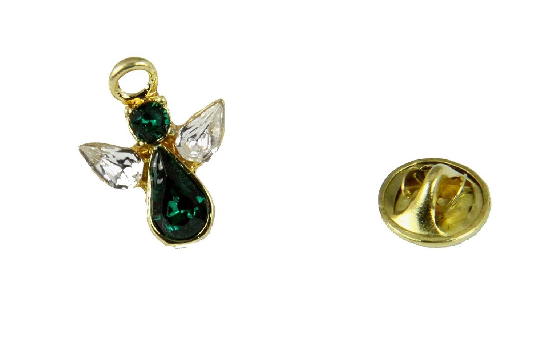 6030613 May Crystal Birth Month Angel Pin Guardian Lapel Brooch Tie Tack