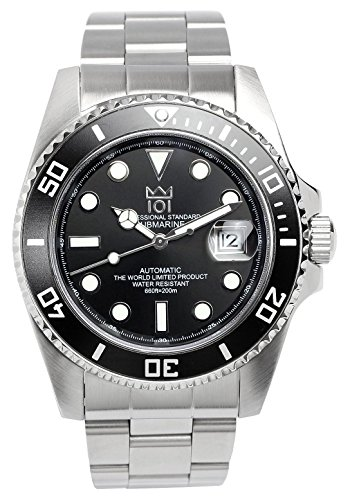 HYAKUICHI 101 Men's Diver's 20BAR Automatic Analog Stainless Steel Black Watch by HYAKUICHI
