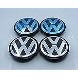 Automelody 4pcs A Set Of Wheel Center Caps Hubcap For VW Volkswagen Beetle Cabriolet CC EOS Golf Jetta Passat Phaeton Rabbit Routan Scirocco Tiguan Touareg (2 1/2 inches, For Passat Phaeton Rabbit Routan Scirocco Tiguan CC EOS)