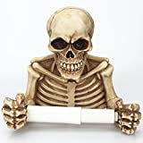 WLWWY Evil Skeleton Decorative Toilet Paper Holder In Scary Halloween Decorations As Bathroom Decor Wall Plaques, Sculptures And Novelty Bath Accessories Gifts
