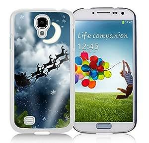 Custom-ized Samsung S4 TPU Protective Skin Cover Christmas Eve White Samsung Galaxy S4 i9500 Case 2
