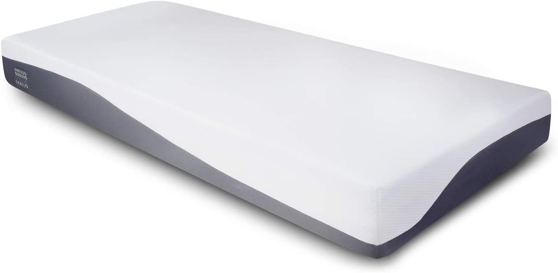 OnNuvo - Colchón de espuma viscoelástica, 25 cm, antidecúbito, alta densidad 50-55 kg/m3, AirTeachFoam+, ortopédico, hipoalergénico, ergonómico, certificado, desenfundable, lavable (80 x 190 x 25 cm)