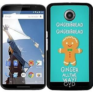 Funda para Motorola Nexus 6 - Pan De Jengibre by AnishaCreations