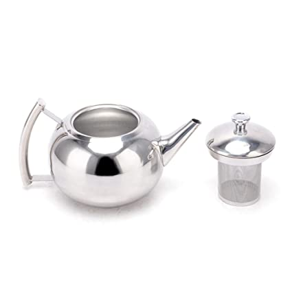 Belmont Deluxe acero inoxidable Tetera, acero inoxidable, Stainless Steel Teapot Handle, 1500 ml