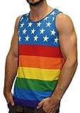 Patriotic American Rainbow Colors Flag Tank Top Shirt
