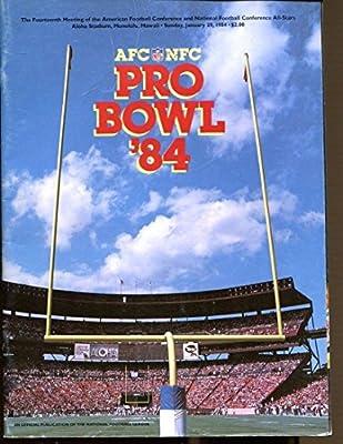 1984 NFL Pro Bowl Program 1/29 Aloha Stadium Ex 39486 at Amazon's