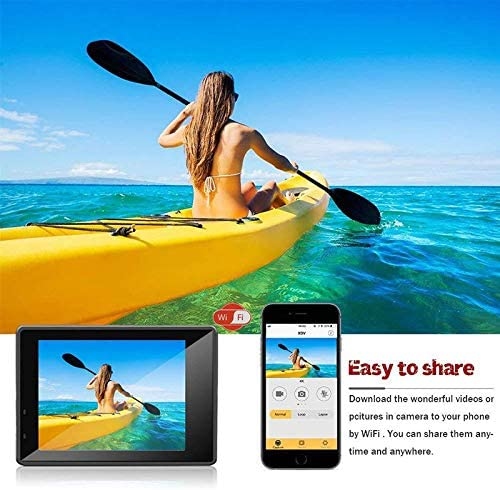 Mini c/ámara Deportiva Impermeable 4K WiFi Inteligente HD para Exteriores Color Amarillo Sunoney