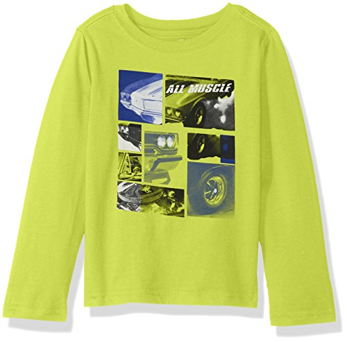 Crazy 8 Little Boys' Long Sleeve Graphic Tee, Yellow Muscle Car, M -