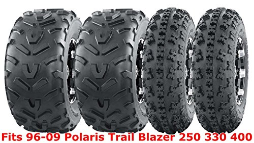 Set 4 WANDA ATV tires 23x7-10 & 22x11-10 96-09 Polaris Trail Blazer 250 330 400