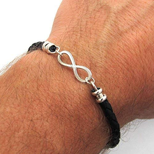 Infinity Bracelet Mens Jewelry Braided Cuff Mens Leather Bracelet Top Mens Bracelets Father Day Gift Gifts for Him Boyfriend Gift