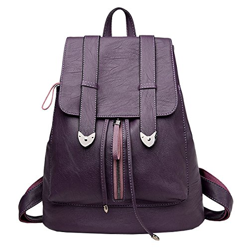 LAIDAYE La Moda De Gran Capacidad Sra Mochila Viajes De Placer Purple