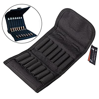 CyberDyer Molle EDC Rifle Ammo Bag Utility Hunting Rifle Magazine Pouch 14 Rifle Shells Cartridge Carrier Case