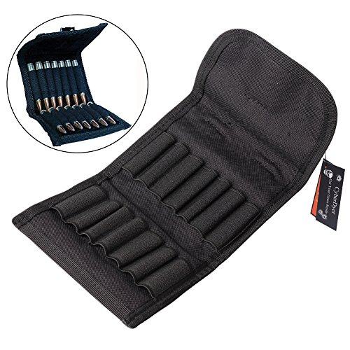 - CyberDyer Molle EDC Rifle Ammo Bag Utility Hunting Rifle Magazine Pouch 14 Rifle Shells Cartridge Carrier Case (Black)