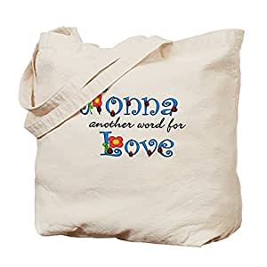 Nonna Love Canvas Tote Bag for Kids Cute Eco-Friendly Reusable School Bag for Girl