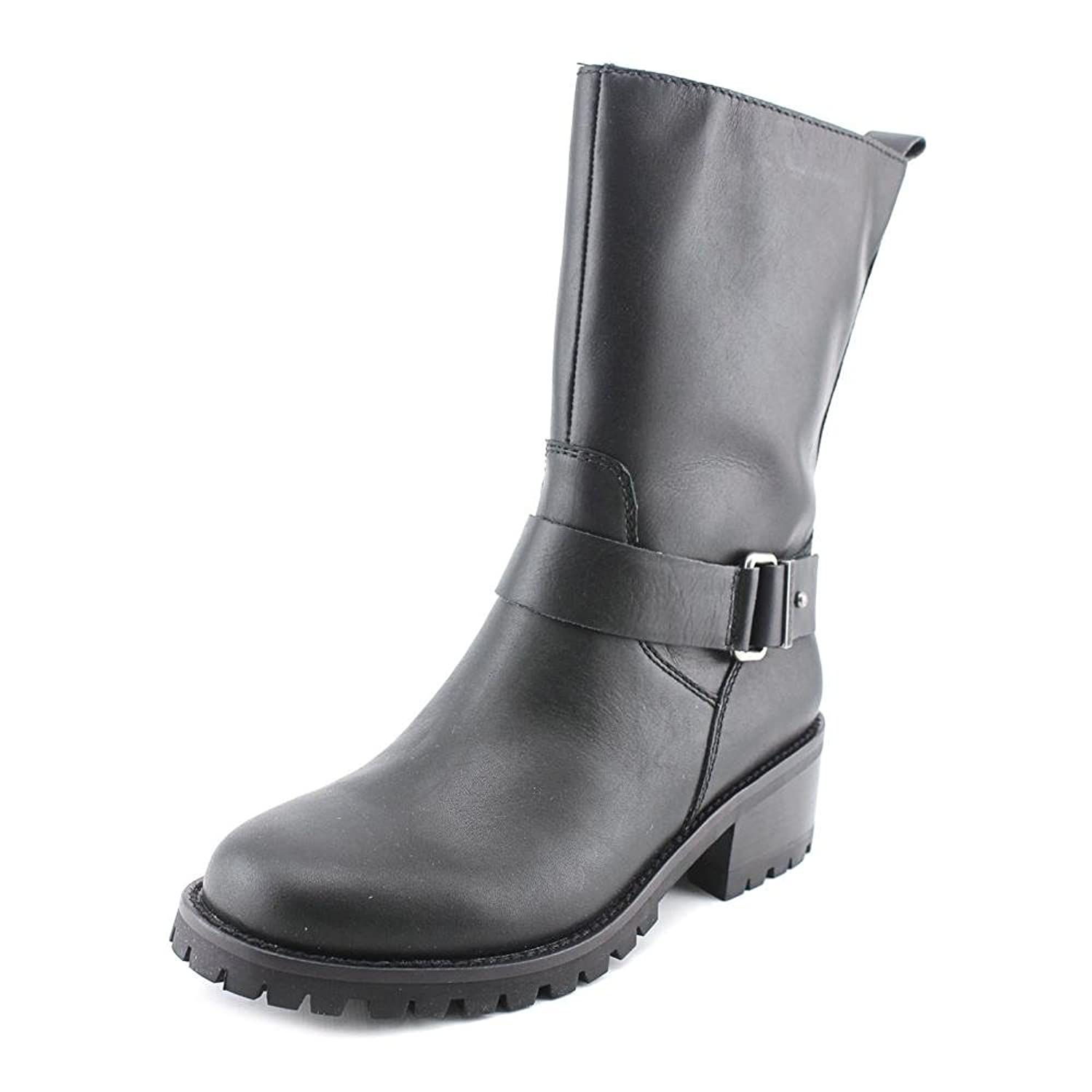 Cole Haan Champlain WP Women Round Toe Leather Black Mid Calf Boot
