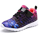 VIIRUN Little Kids Easy wearing Lightweight Fashion Sneakers Boys and Girls Breathable Running Shoes Purple 29/12M US Little Kids