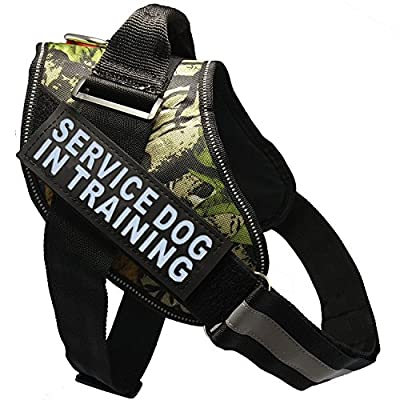 "Fairwin Service Dog Vest Harness K9 No Pull Adjustable with Reflective ""SERVICE DOG"" Patches"