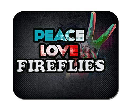 Makoroni - Peace Love Fireflies - Non-Slip Rubber Mousepad, Gaming Office Mousepad -
