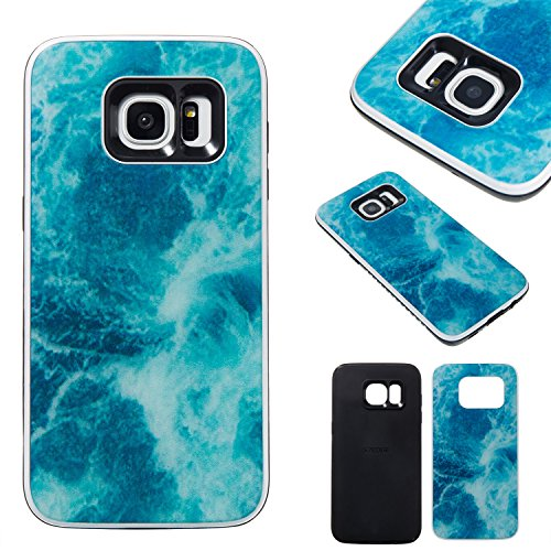 Galaxy S6 Marble Case, ARSUE Anti-Scratch Shock Proof Thin TPU Flexible Protective Hybrid Durable Case Cover Fit for Samsung Galaxy S6,Marble Design - Glasses 2014 Fashionable