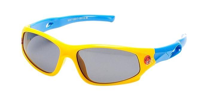 BOZEVON Polarizadas Gafas de Sol Deportes y Actividades para Unisexo Niños Niñas Flexible Rubber Deportivas Gafas