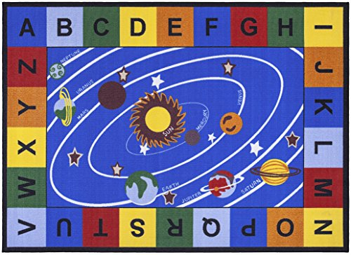 Ottomanson-Jenny-Collection-Blue-Base-with-Multi-Colors-Kids-Childrens-Educational-Our-Solar-System-Design-Area-Classroom-Rugs