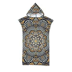 Sticker Superb. Bohemian Mandala Floral Hooded Beach Towel 75×140 cm Soft Polyester Sports Quick-Drying Towel Woman…