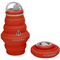 HYDAWAY - Opvouwbare waterfles, 500 ml flip top deksel   Ultra verpakbaar, reisvriendelijk, voedsel siliconen
