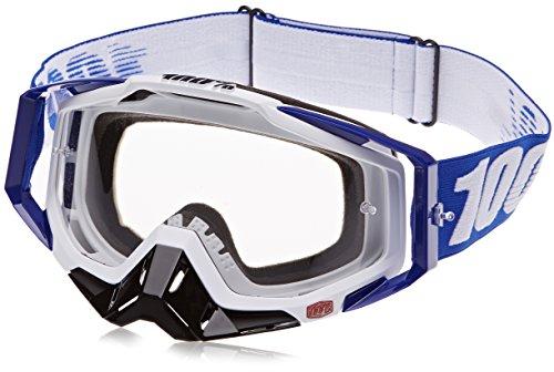 100% Racecraft Goggles , Primary Color: Blue, Distinct Name: Cobalt Blue/Clear Lens, Gender: Mens/Unisex - Superbike Sunglasses