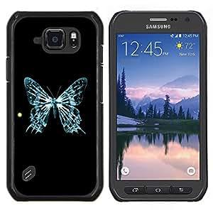 LECELL--Funda protectora / Cubierta / Piel For Samsung Galaxy S6Active Active G890A -- Mariposa azul Esqueleto Sun Arte Cosmos --