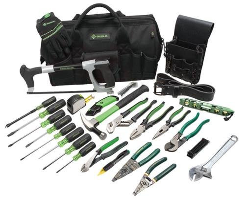 Greenlee 0159-11 Electrician's Tool Kit, 28-Piece (Greenlee Hacksaw Blades)