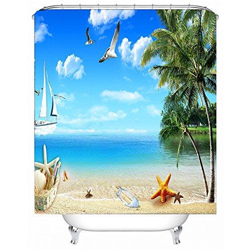 MMDN Rideau de douche en tissu impermable  la moisissure 71 71 pouces (in) blue sky