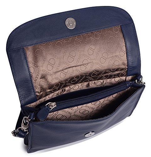 Secciones Olivia Y De Saddler Nappa Bolso Con Cruzado 3 Clutch Piel Azul Marino qpOpWdaEvx