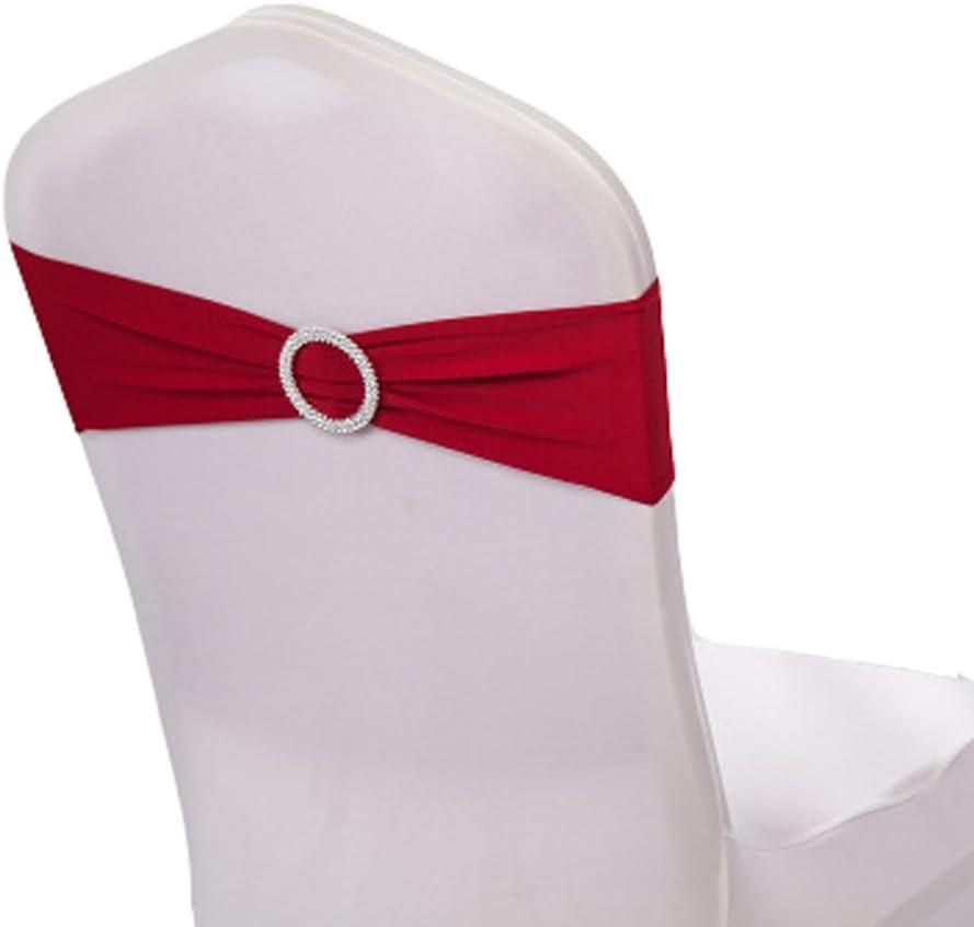 Champagne Lot de 10 GLITZFAS Rubans en Housse de chaise n/œuds rubans n/œuds de mariage d/écoration de Ceremonie F/ête Anniversaire