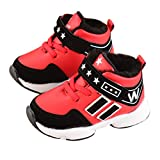 Oksale Newborn Baby Girls Winter Sneakers Thickening Warm Shoes Casual Shoes (1.5T, Red)